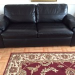 : black leather sofa bed tesco