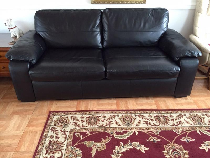 Black Leather Sofa Bed Tesco
