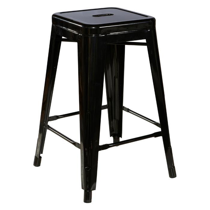 black metal backless bar stools