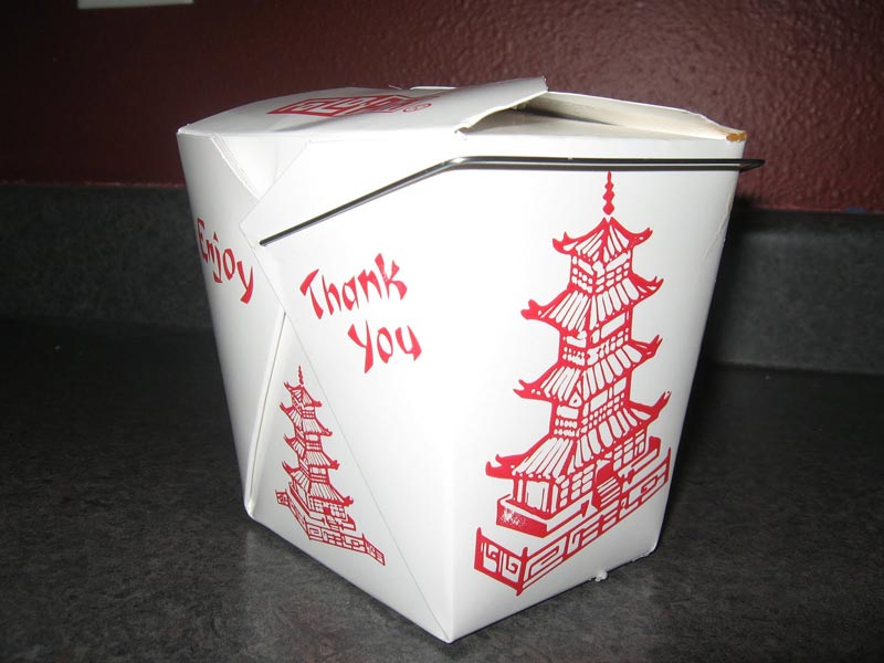 chinese box as plate