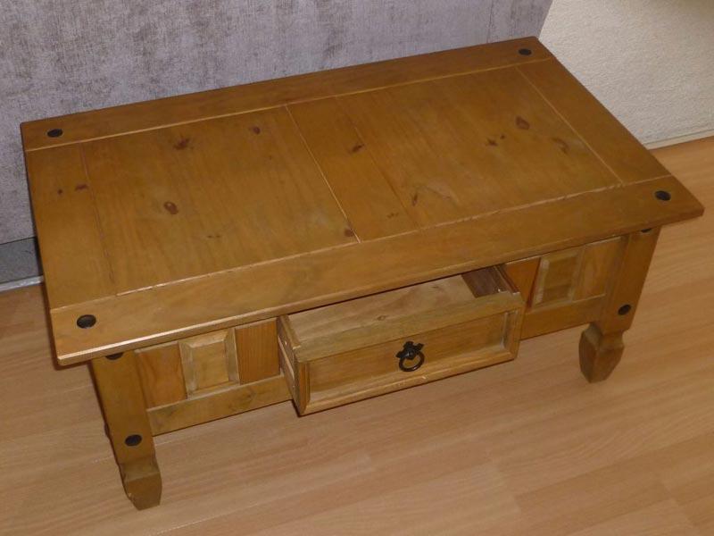 corona 1 drawer coffee table
