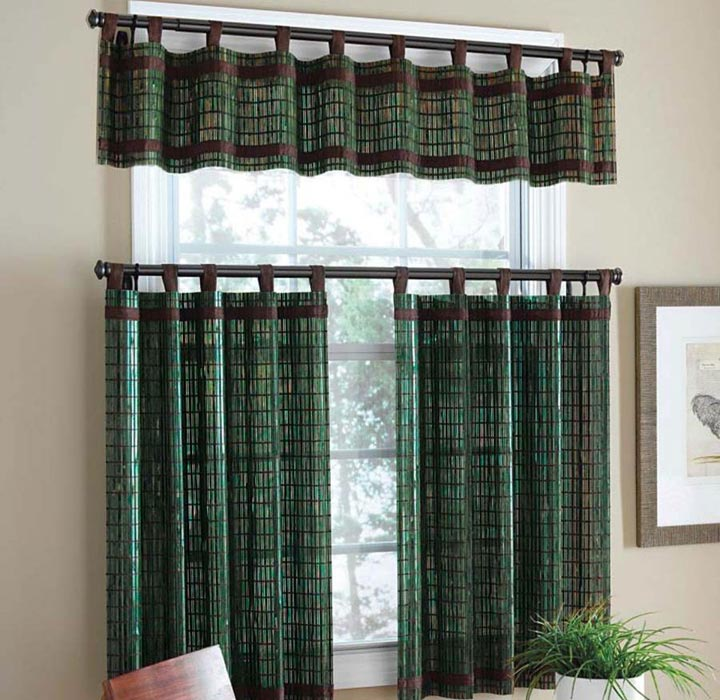 curtains lace valance