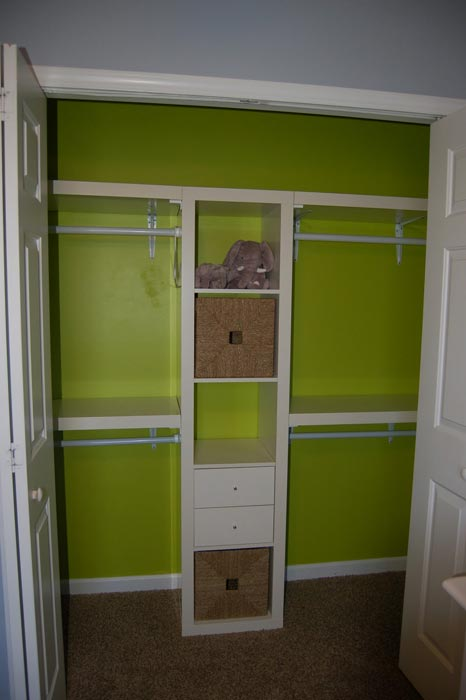 custom closet using ikea