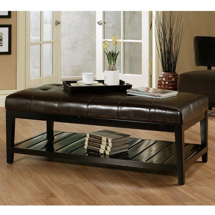 leather ottoman coffee table walmart