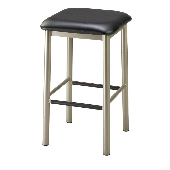 square backless metal bar stools