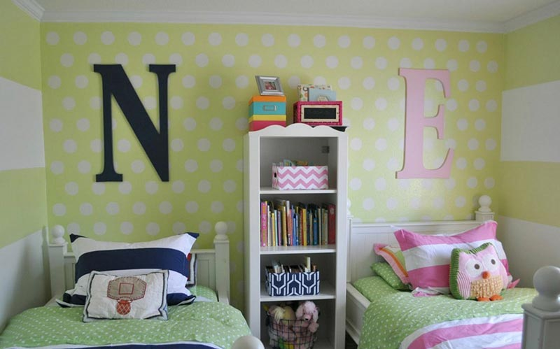 childrens bedroom ideas boy & girl sharing