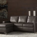 : contemporary black leather sofa bed