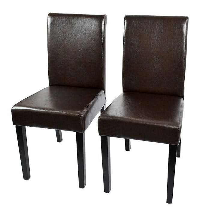 contemporary brown leather dining chairs