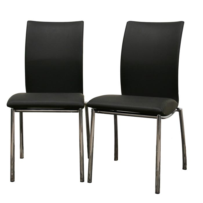 contemporary faux leather dining chairs