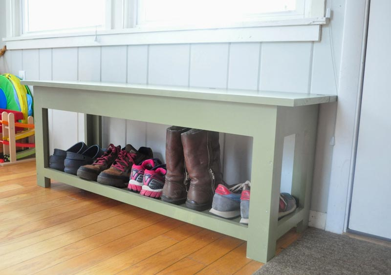 diy entryway bench with shoe storage