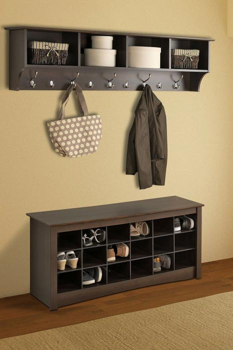 entryway bench with shoe storage
