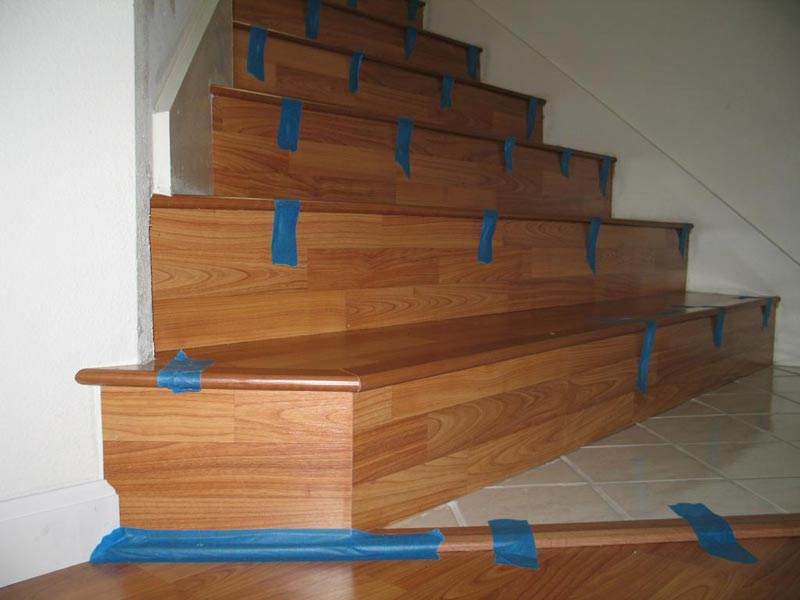 how do you install laminate flooring on stairs