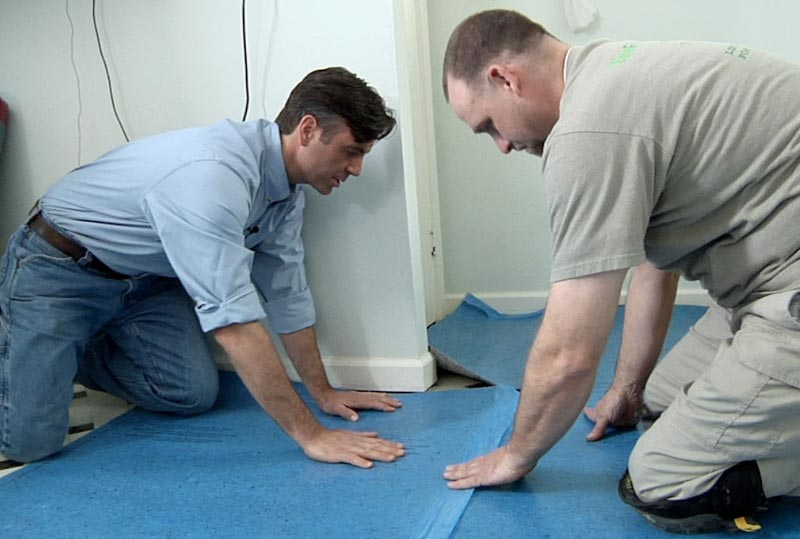 how to lay laminate flooring underlay