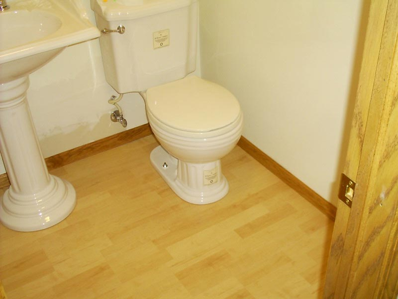 lay laminate flooring bathroom