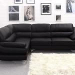 : modern black leather corner sofa