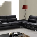 : modern black leather furniture