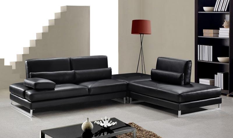 Modern Black Leather Furniture