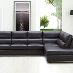 : modern black leather sectional sofa
