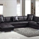: modern black leather sofa bed