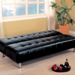 : modern black leather sofa bed sleeper