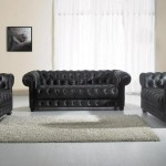 : modern black leather sofa set