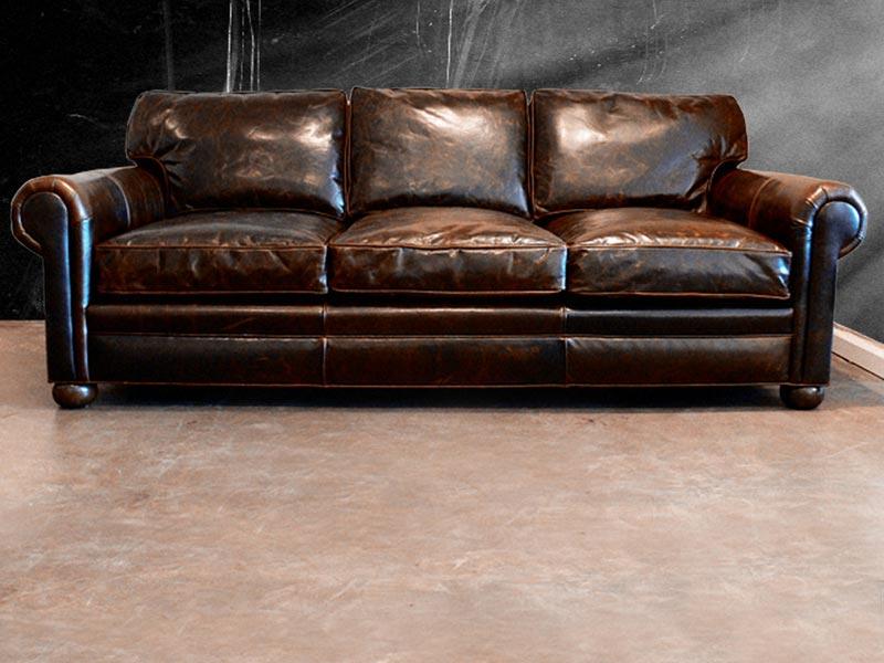 Modern Leather Sofa Austin