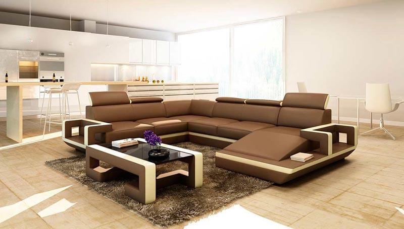 Modern Leather Sofa Bay Area