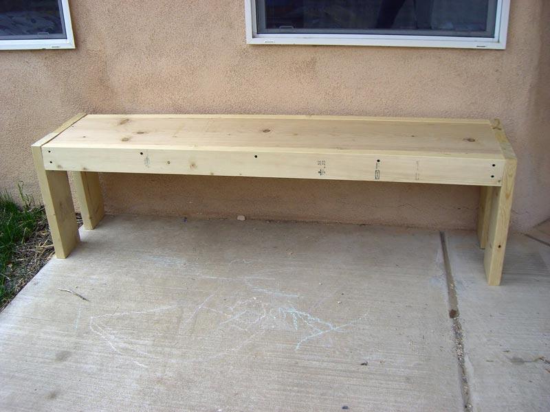 outdoor wood bench diy