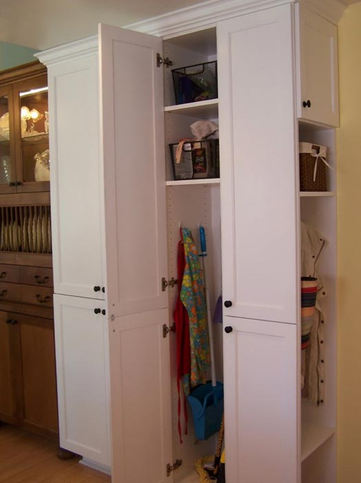 stand alone broom closets