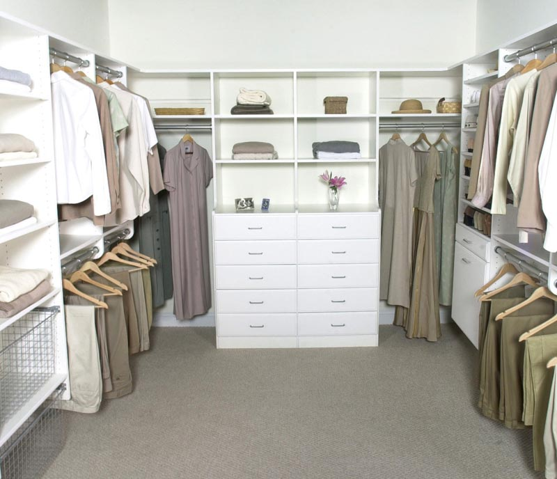 walk in closet ideas on a budget