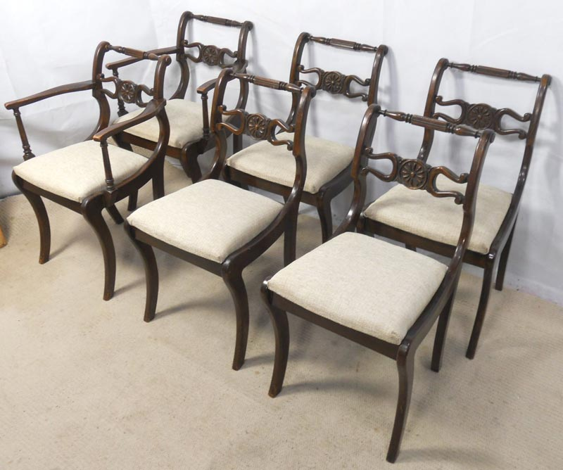 antique dark wood dining chairs