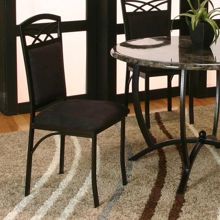 black suede dining chairs