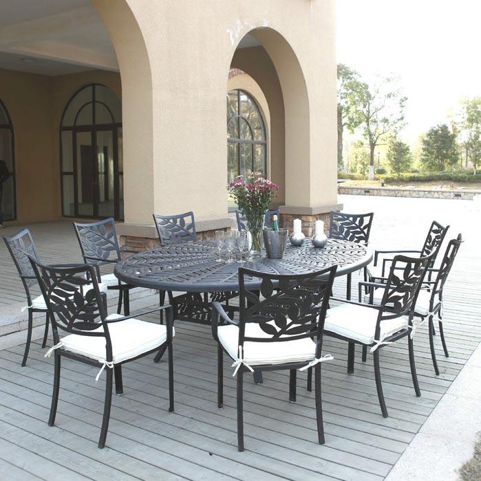 bronze coloured garden furniture