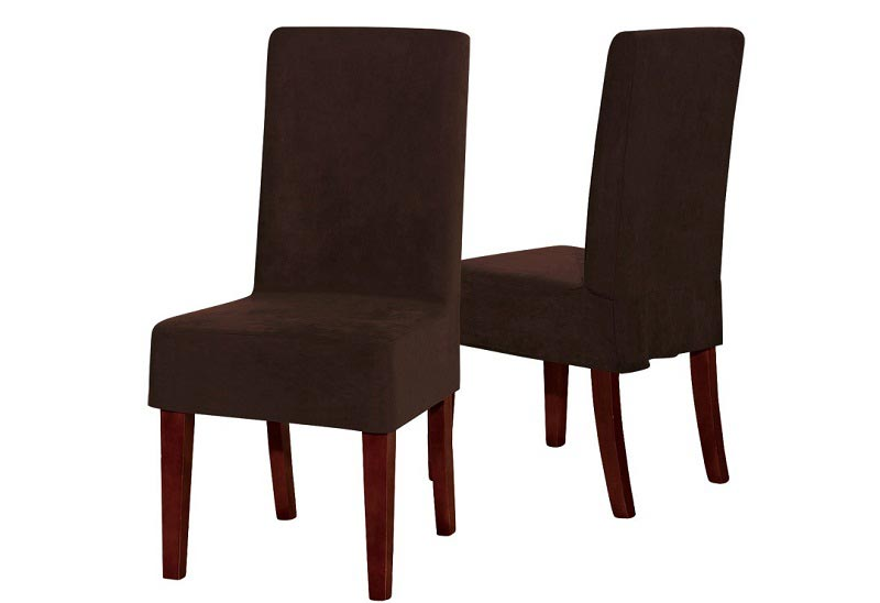 brown suede dining chairs