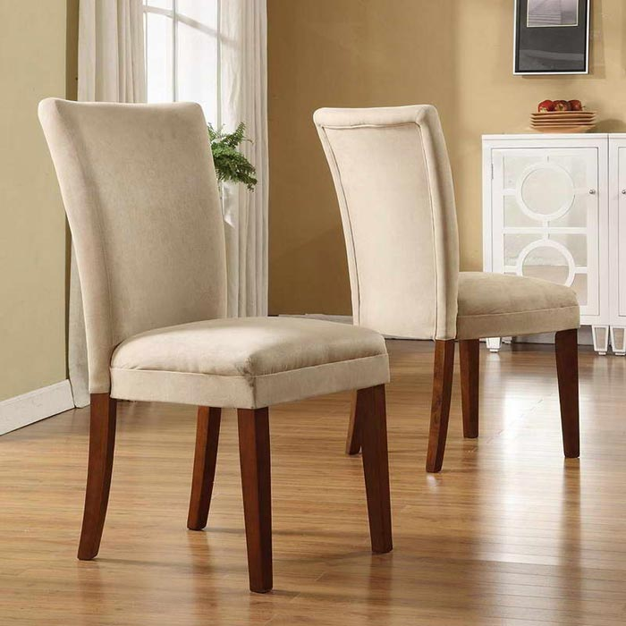 buy suede dining chairs