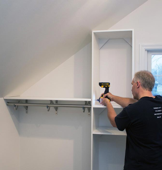 closet shelf above rod
