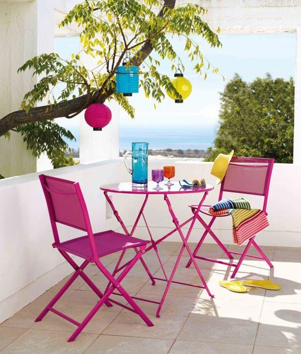 coloured bistro garden furniture
