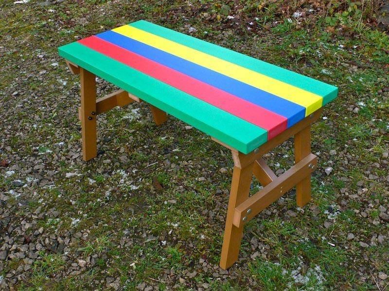 coloured garden chair