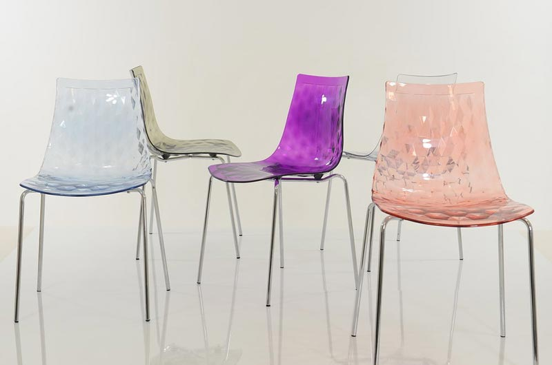 coloured gel dining chairs