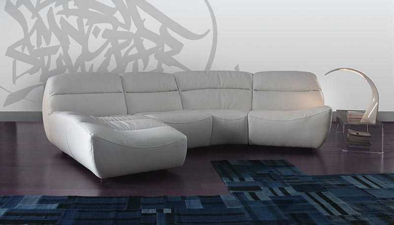 Contemporary Italian Leather Corner Sofas