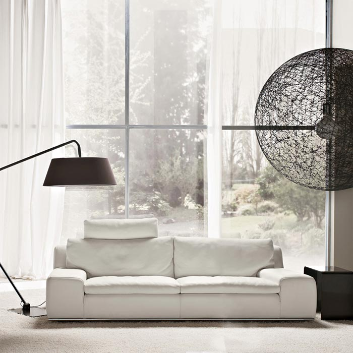 contemporary italian leather sofas