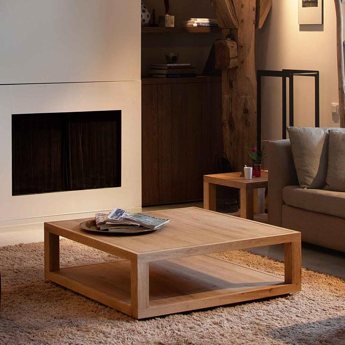 contemporary oak coffee table