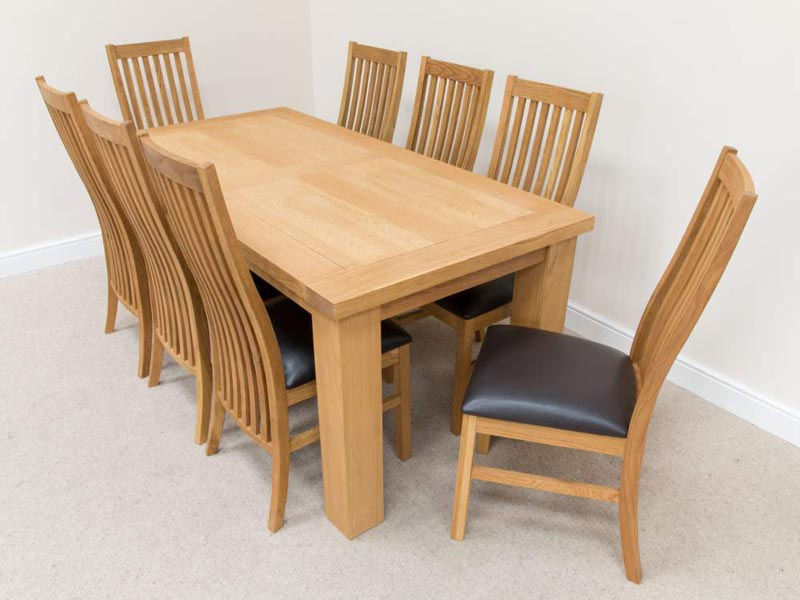 dining table 8 chairs oak