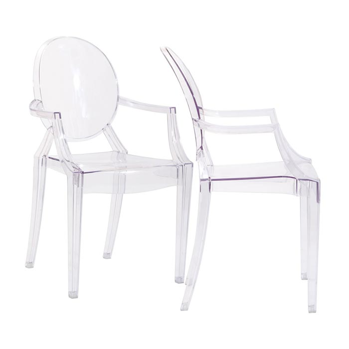gel plastic dining chairs