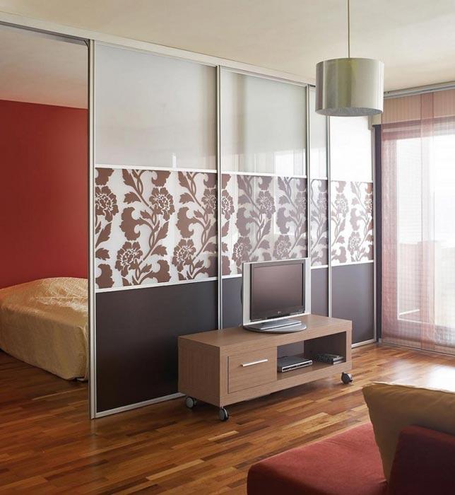 ikea closet doors as room divider