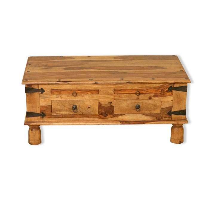 jali wood coffee table