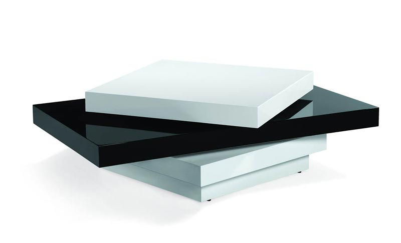 modern coffee table black and white