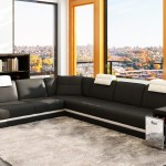 : modern italian black white corner leather sofa suite