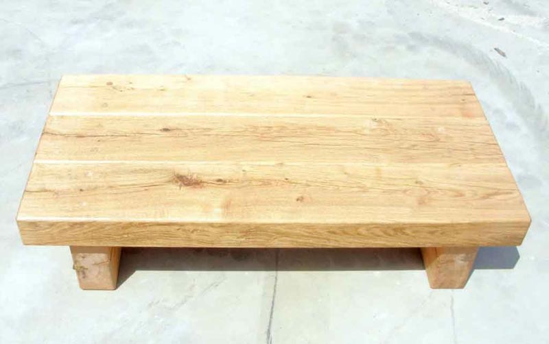 oak railway sleeper coffee table