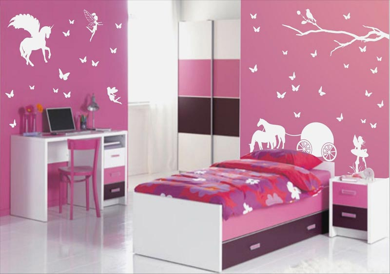 pink bedroom walls